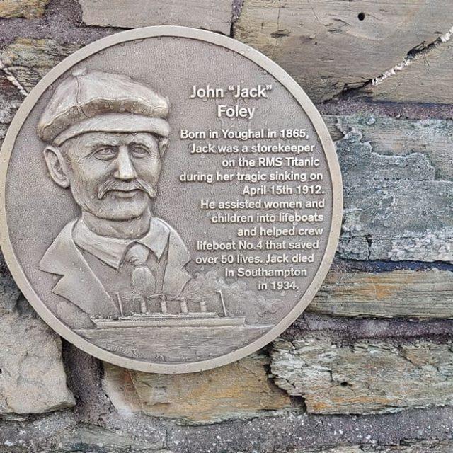 Plaque to honour John 'Jack' Foley erected.